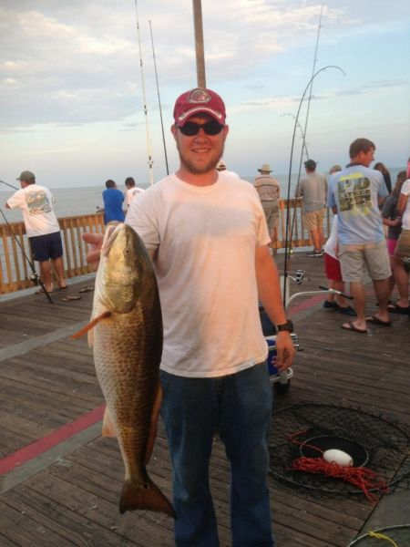 First Bull Red from the pier.